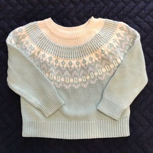 Gap girls fairisle sweater 3T